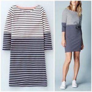 Boden Stripe Shift Sweater Navy White Dress 4L
